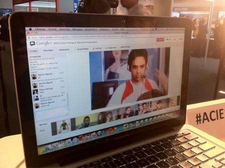 Google+ Hangout voor meer interactie tussen online en offline bezoekers van het event Associations Congress 2012