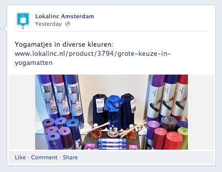 Facebook example outbound link click
