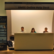 Online and social media helpdesk at the medical conference AMEE 2014 (#AMEE2014) in MiCo, Milan, Italy