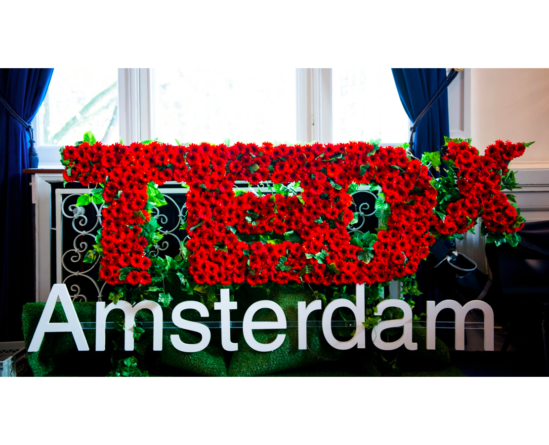 Nameshapers | social media support for events | TEDxAmsterdam flowers bloemen