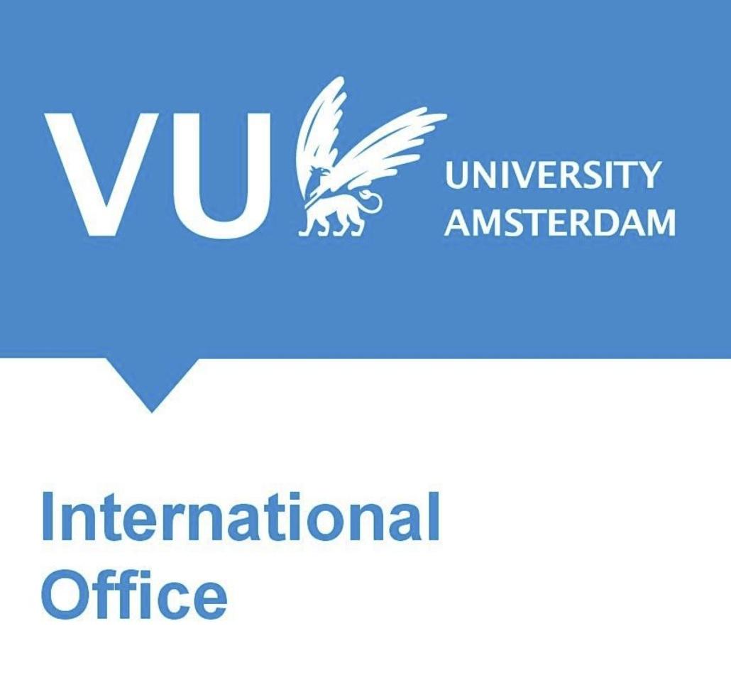 Nameshapers social media support | logo VU International Office (VU University Amsterdam : Vrije Universiteit Amsterdam)