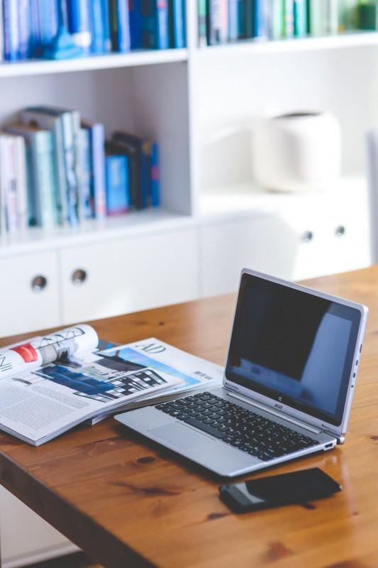 werkwijze laptop bureau