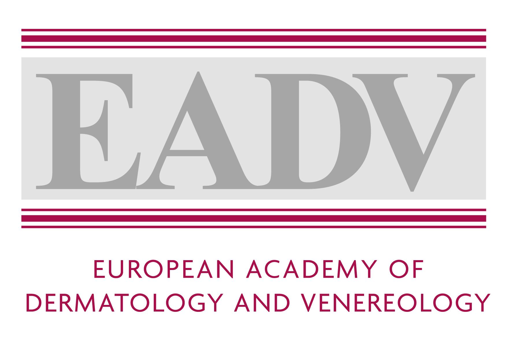 EADV logo dermatology