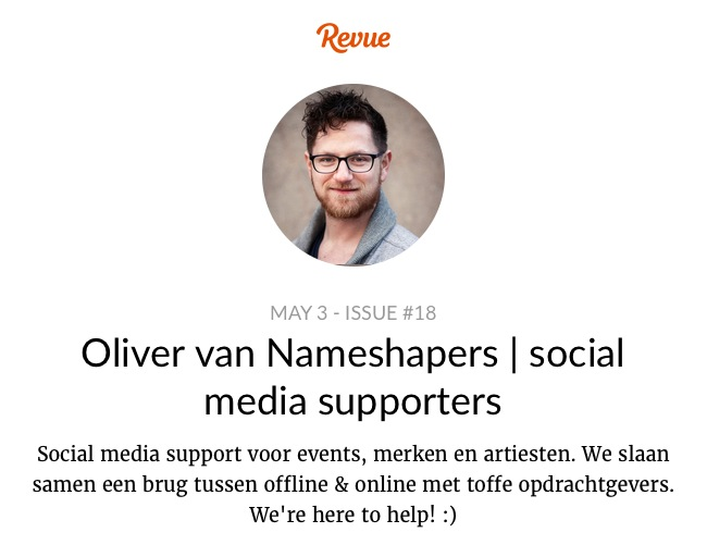 Revue Nameshapers social media supporters  issue 18