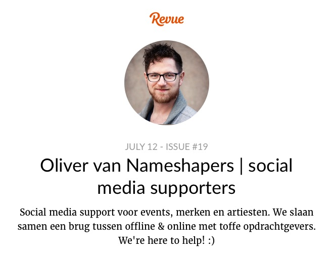 Revue Nameshapers social media supporters  issue 19